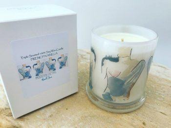 Luxury Soy Candle with trendy artwork from Adelaide business Modern Detail By Sarah Jane - Bodyline I