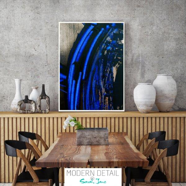 Masculine Print for the dining room By Sarah Jane - Faceless VI