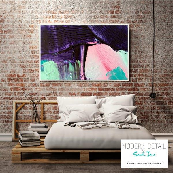 Modern Abstract Print for the bedroom By Sarah Jane - Colour me Happy X