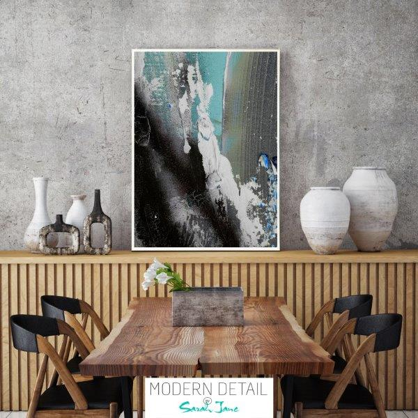 Modern Abstract Print for the dining room with soft colour tones By Sarah Jane - Anonymous XIIIa