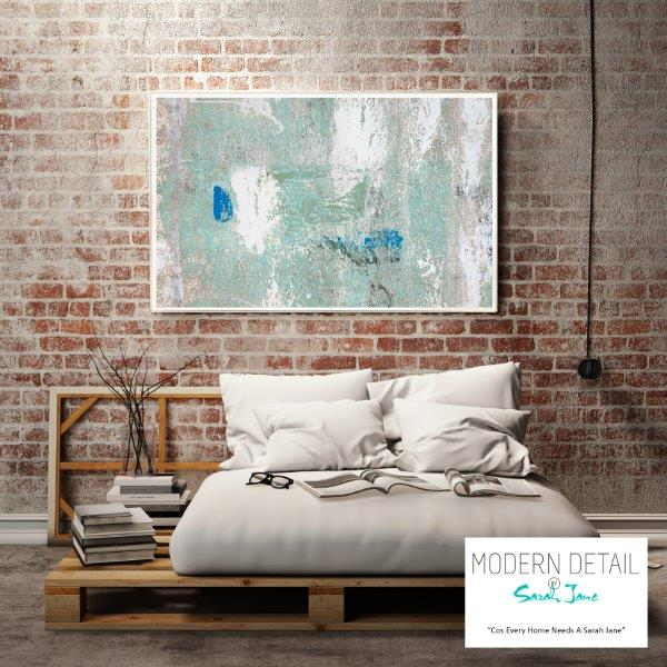 Modern Abstract Print in Soft Colour Tones for the bedroom By Sarah Jane - Boardwalk IIIe