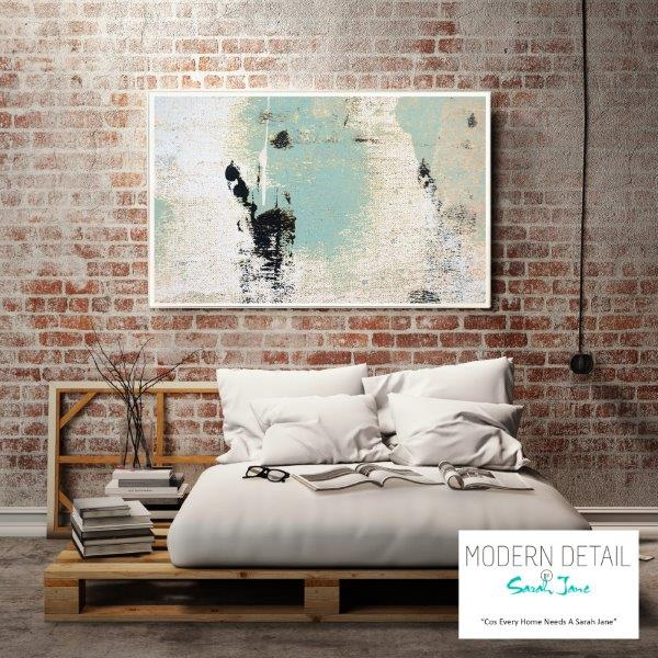Modern Abstract Print in Soft Colour Tones for the bedroom By Sarah Jane - Boardwalk IIa