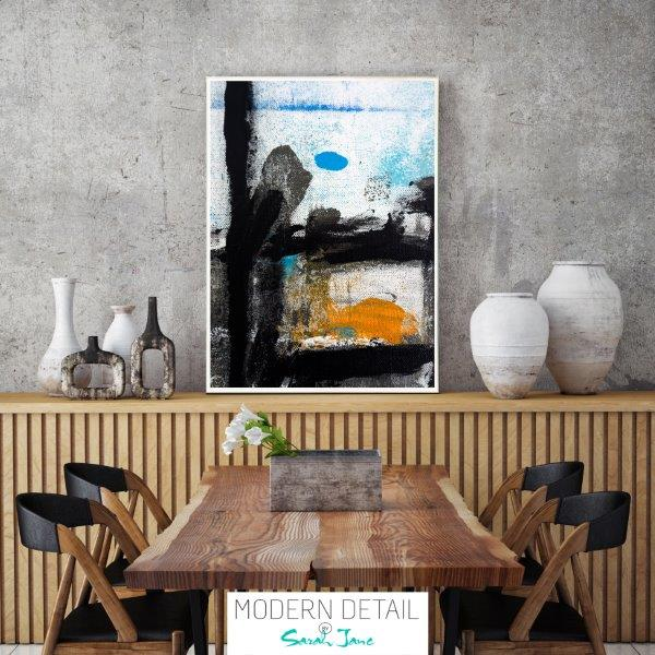Modern Abstract Print with bold colours for the dining room By Sarah Jane - Boardwalk VIII