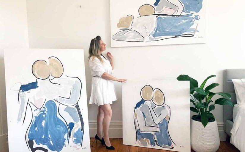 Modern Art Gallery Tour Online | Artist Sarah Jane from South Australia