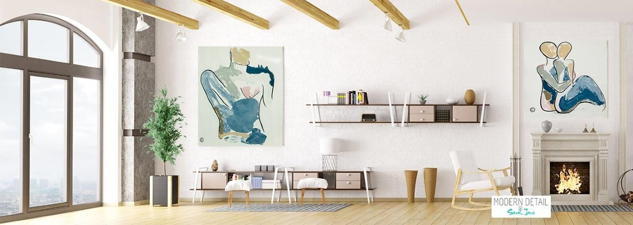 Modern Art for the Art Collector By Artist Sarah Jane - Bodyline Paintings