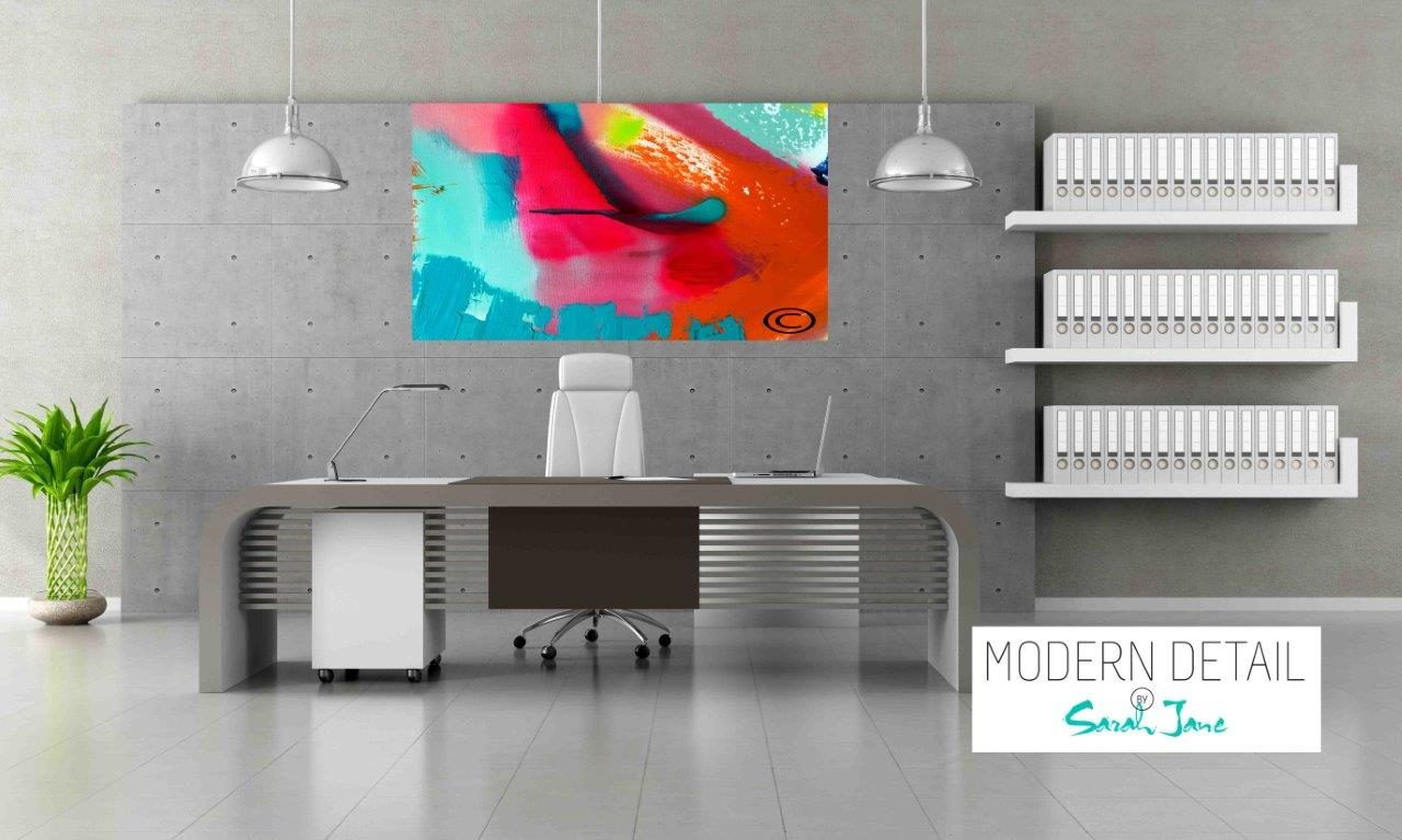 Modern Art for the Office By Artist Sarah Jane - Colour me Happy V - Modern Detail By Sarah Jane