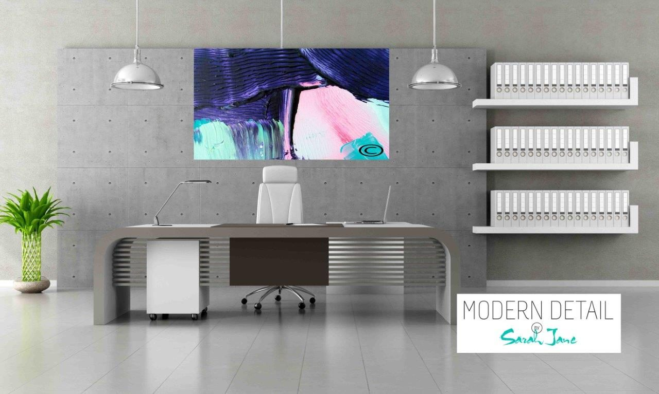 Modern Art for the Office By Artist Sarah Jane - Colour me Happy X - Modern Detail By Sarah Jane