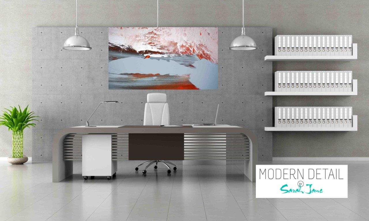 Modern Art for the Office By Artist Sarah Jane - Freedom IIIa - Modern Detail By Sarah Jane