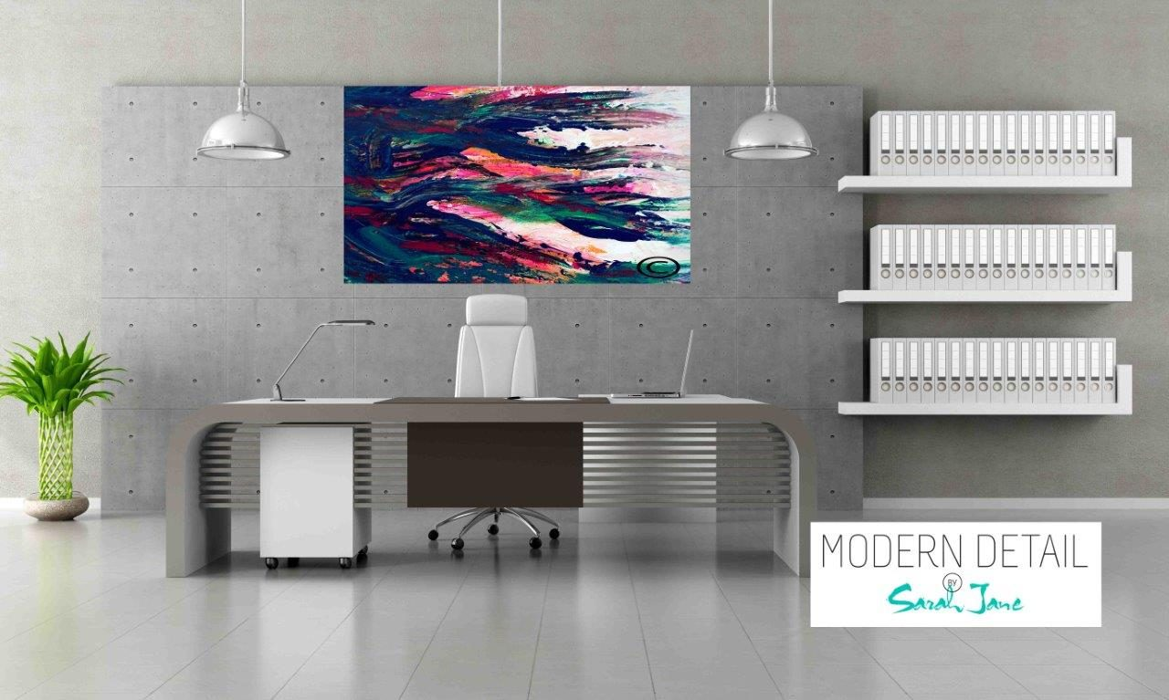 Modern Art for the Office By Artist Sarah Jane - Freedom Va - Modern Detail By Sarah Jane