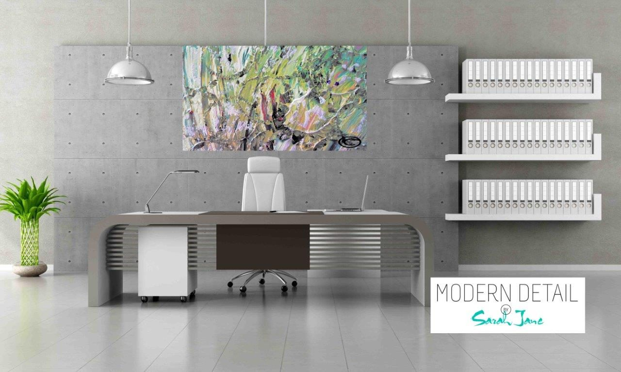 Modern Art for the Office By Artist Sarah Jane - New Life IVb - Modern Detail By Sarah Jane