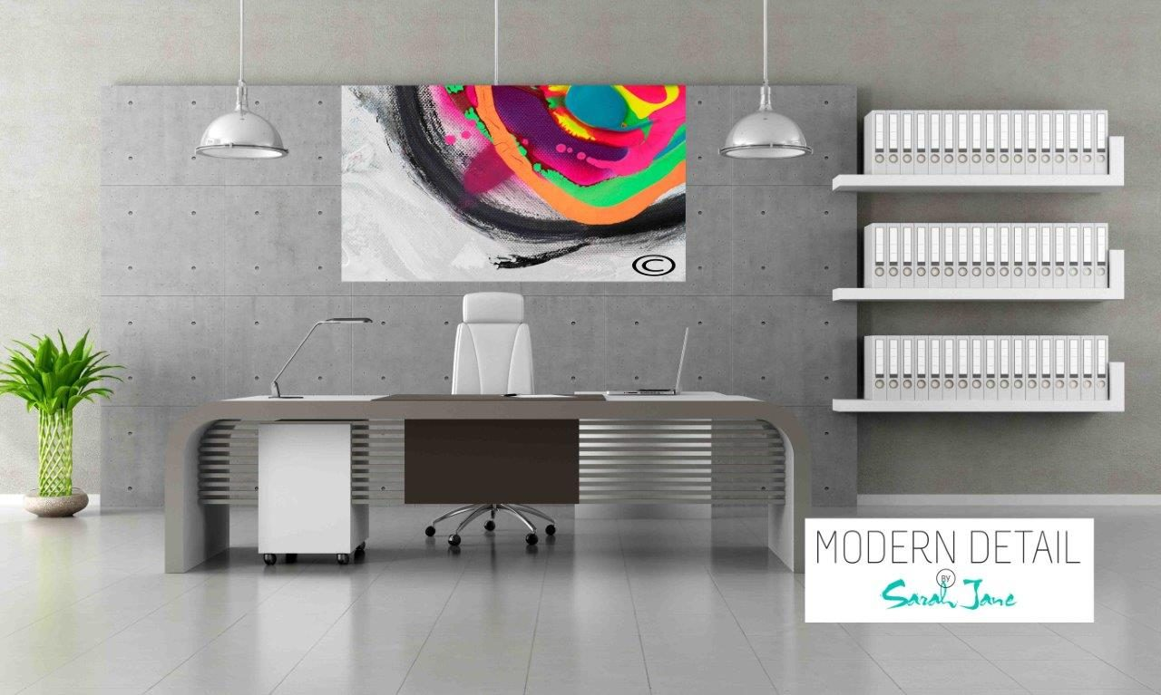 Modern Art for the Office By Artist Sarah Jane - Noisy Mind X - Modern Detail By Sarah Jane