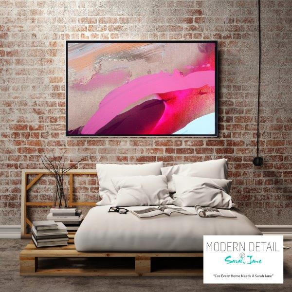 Modern Art for the bedroom By Sarah Jane - Being Watched II