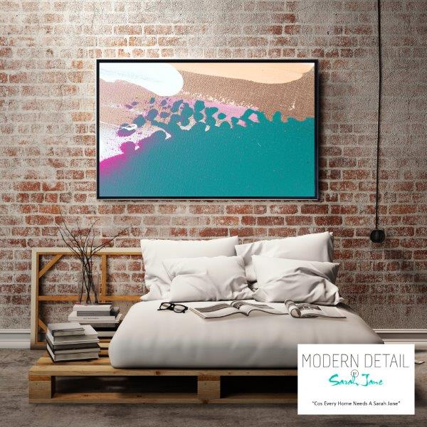 Modern Art for the bedroom By Sarah Jane - Being Watched VIIIa
