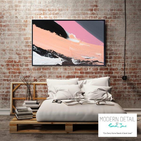 Modern Art for the bedroom By Sarah Jane - Being Watched XXa