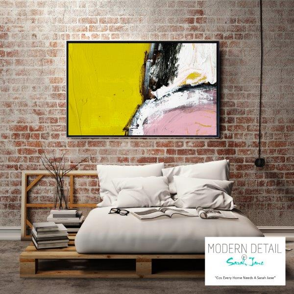 Modern Art for the bedroom on Glass By Sarah Jane - Cozzie VIIId