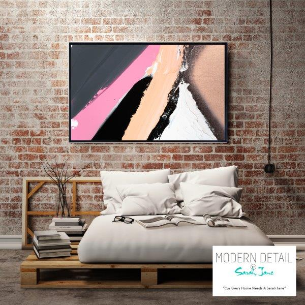 Modern Art for the bedroom with block colours By Sarah Jane - Being Watched XVIIIa