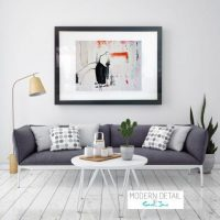 Modern Art for the loungeroom from Modern Detail By Sarah Jane - On the Move XXIX