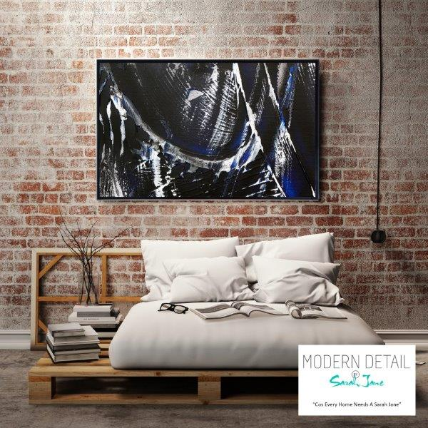 Modern Glass Art Print for the bedroom By Sarah Jane - Anonymous IX