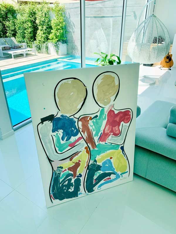 modern home art paintings original series - bodyline bold i by sarah jane artist