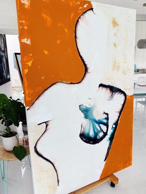 Modern-Painting-Woman-Breast-Cancer---aussie-artist-sarah-jane