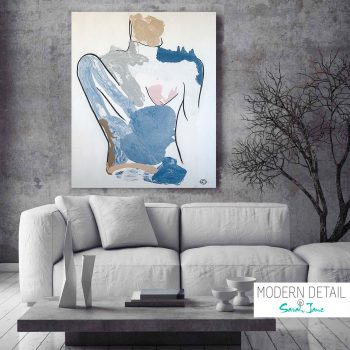Modern Painting - Womans Body - Bodyline I - Modern Detail By Sarah Jane Adelaide Art Studio