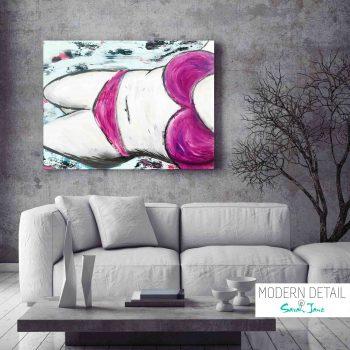 Modern Painting by Artist Sarah Jane - Real Woman - MODERN DETAI