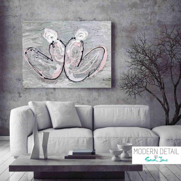 Modern Painting by Artist Sarah Jane - Distance - MODERN DETAI