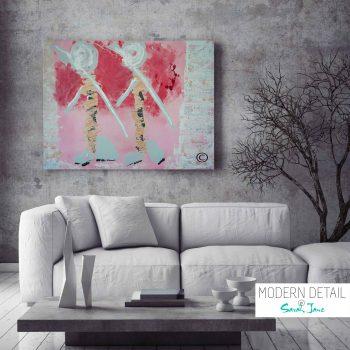 Modern Painting by Artist Sarah Jane called Wanderers - MODERN DETAIL BY SARAH JANE