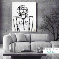 Modern Painting of a trendy woman by Artist Sara Jane called Linear IV - Modern Detail By Sarah Jane