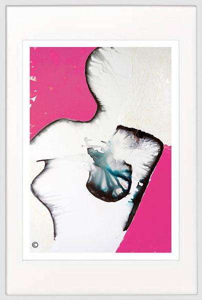Modern-Print-breast-cancer---Sarah-Jane-Artist---Silhouette-Ia---White-frame