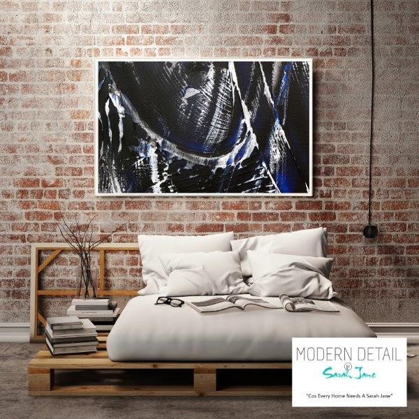 Modern Print for the bedroom with dark colour tones By Sarah Jane - Anonymous IX