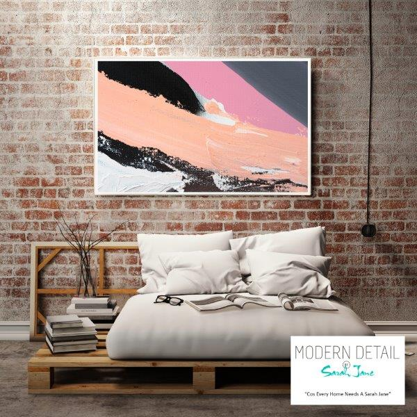 Modern Print for the bedroom with soft colour tones By Sarah Jane - Being Watched XXa
