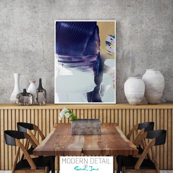 Modern Print for the dining room in neutral tones By Sarah Jane - Colour me Happy XIIIe
