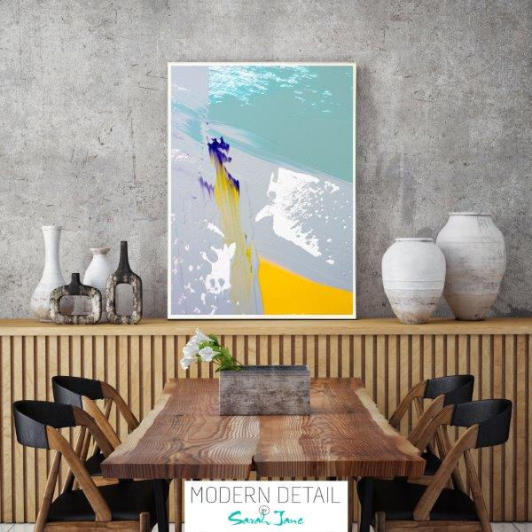Modern Print for the dining room with fresh colours By Sarah Jane - Colour me Happy VIId