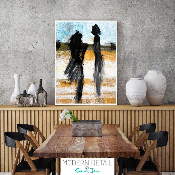 Modern Print in Glass for the dining room By Sarah Jane - Boardwalk V