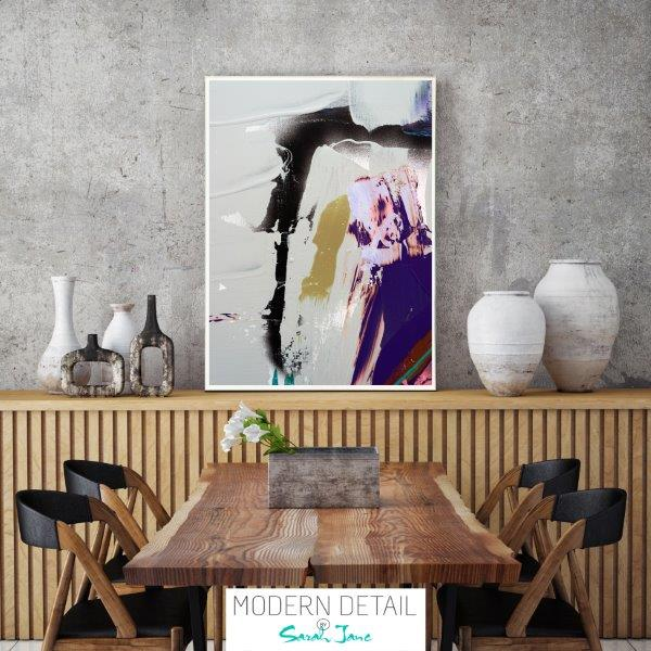 Modern Print in neutral colours for the dining room By Sarah Jane - Colour me Happy XVId