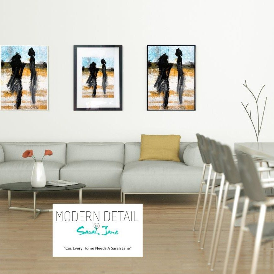 Modern Print on Glass By Sarah Jane - Boardwalk V