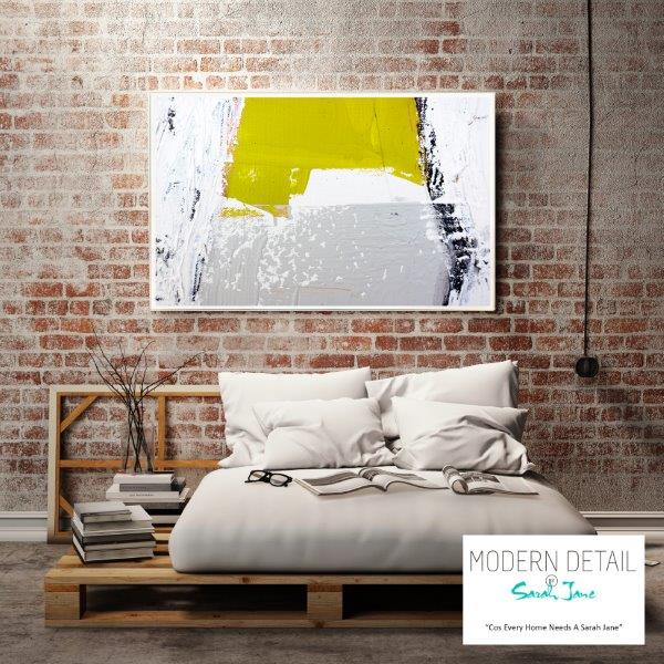 Modern Print on Glass for the bedroom By Sarah Jane - Cozzie Va