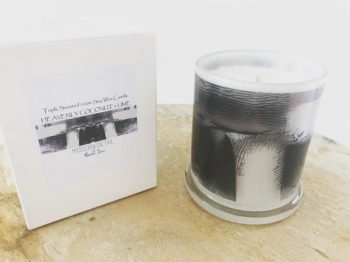 Natural Soy Candle with modern neutral artwork - Anonymous IVh