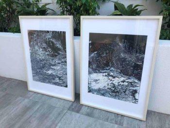 Nature VII & Nature VII Paintings in Frames - Modern Deatil By Sarah Jane