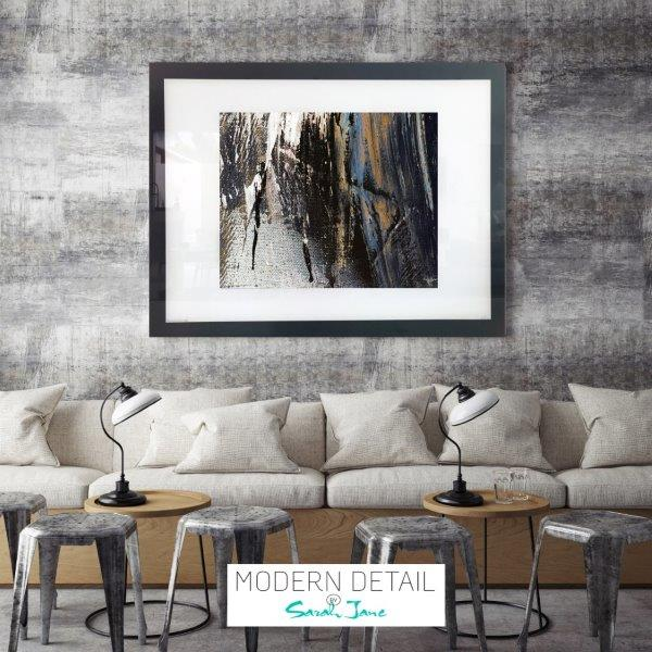 Neutral Art for a restaurant or cafe from Modern Detail By Sarah Jane - Anonymous XIVe