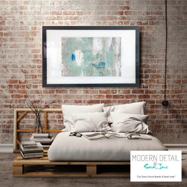 On trend Art print for the modern bedroom By Artist Sarah Jane - Boardwalk IIIe