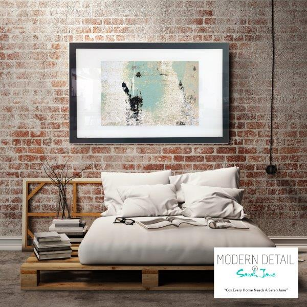 On trend Art print for the modern bedroom By Artist Sarah Jane - Boardwalk IIa
