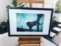 Outback art print on glass - Reaching Out L By Artist Sarah Jane