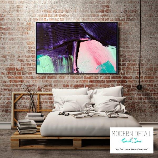 Peaceful Modern Art for the bedroom By Sarah Jane - Colour me Happy X