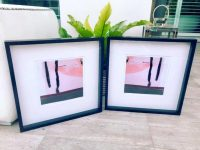 Pretty Pink Prints in Frame - Hope Va and Hope Va inverted by Australian Artist sarah Jane
