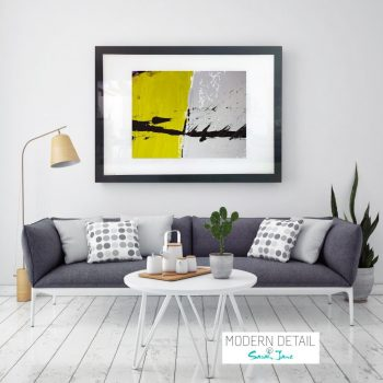 Print for a modern home on glass from Modern Detail By Sarah Jane - Cozzie VIIb