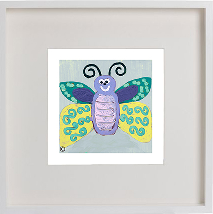 KIDS PRINT WITH YOUR CHILDS NAME - Butterfly Ig Artwork in 52 x 52cm ...