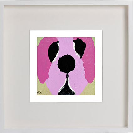 Print of a dog in a white frame for a kids bedroom - Woofa Ih By Artist Sarah Jane