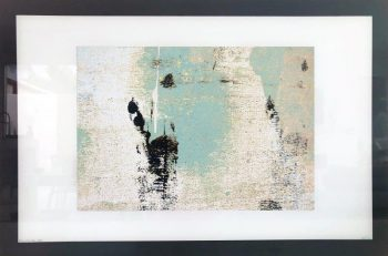 Print on Glass for a Luxury Home By Artist Sarah Jane with White and Black Border - Boardwalk IIa